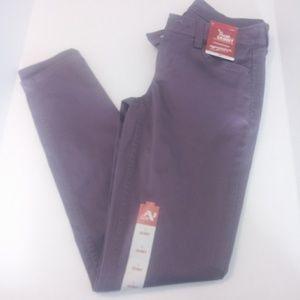 New Arizona Jean co. Purple skinny jeans size 1